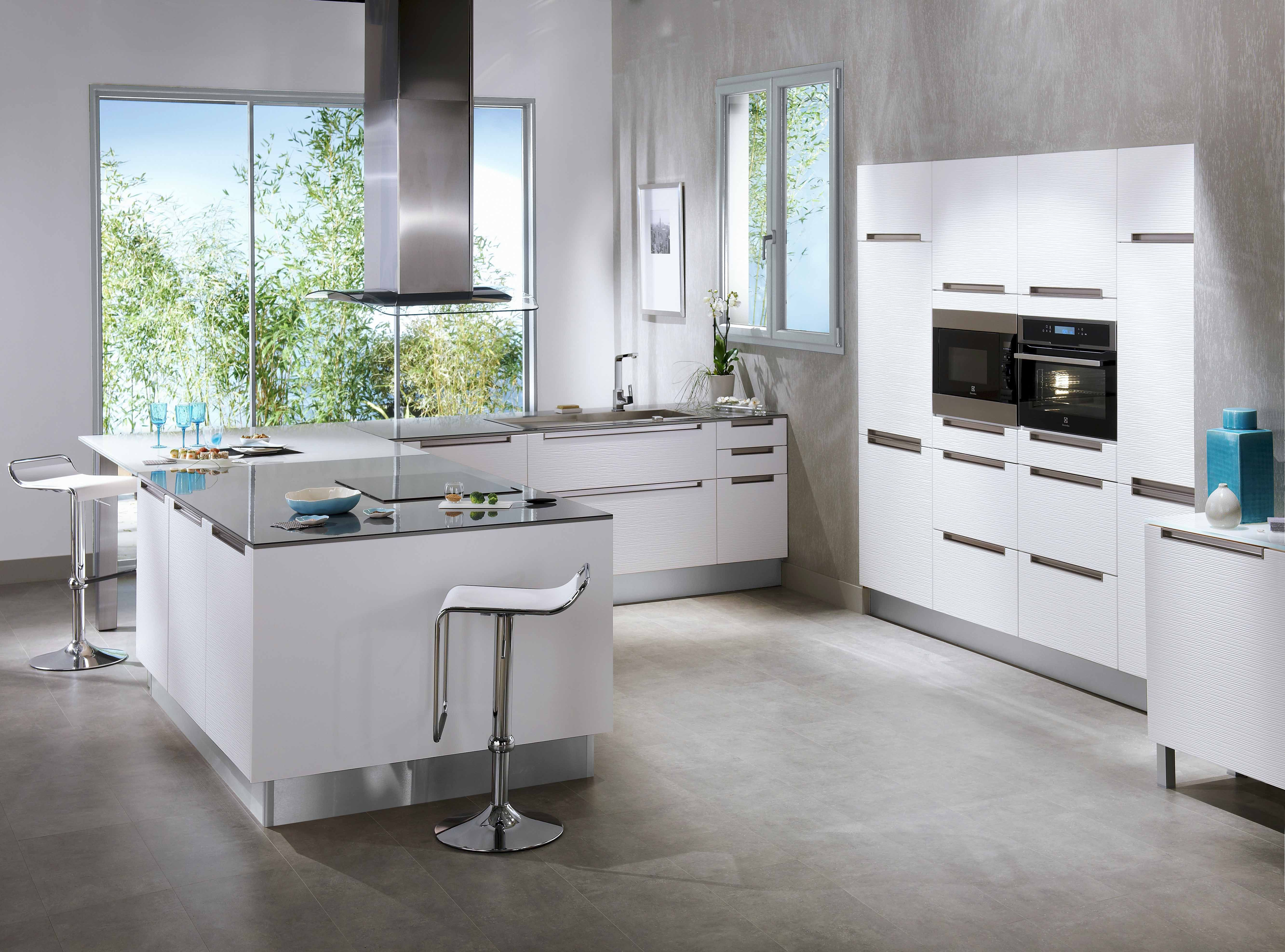 Collection contemporaine stria fabriqu e en france dans les usines lapeyre moderne et in dite - Cuisine grise et blanche ...