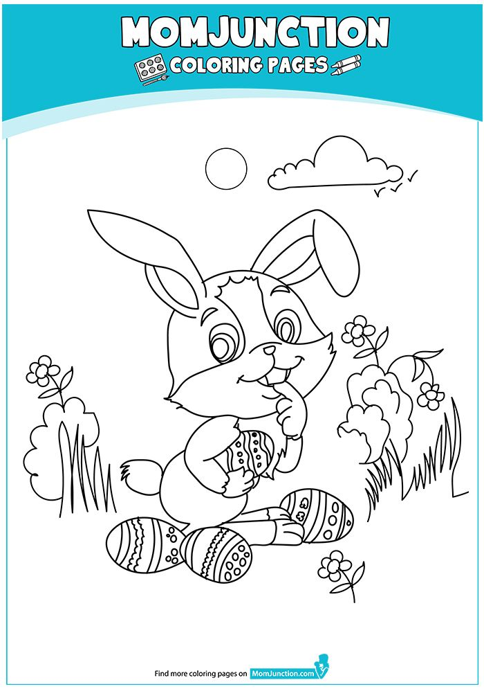 Print Coloring Image Momjunction Mom Junction Easter Bunny Colouring Cute Easter Bunny