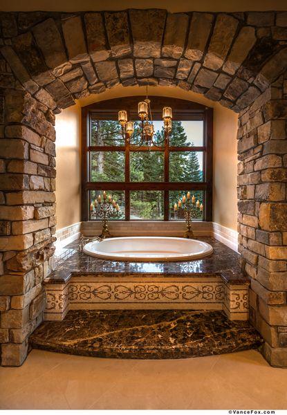 Locati Architects squaw mountain residence bath tub. tahoe, californialocati