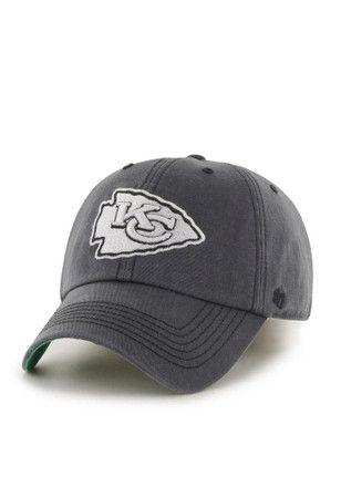 ccd3c4edb1c726 KC Chiefs '47 Mens Grey Sachem `47 Franchise Fitted Hat | NFL ...