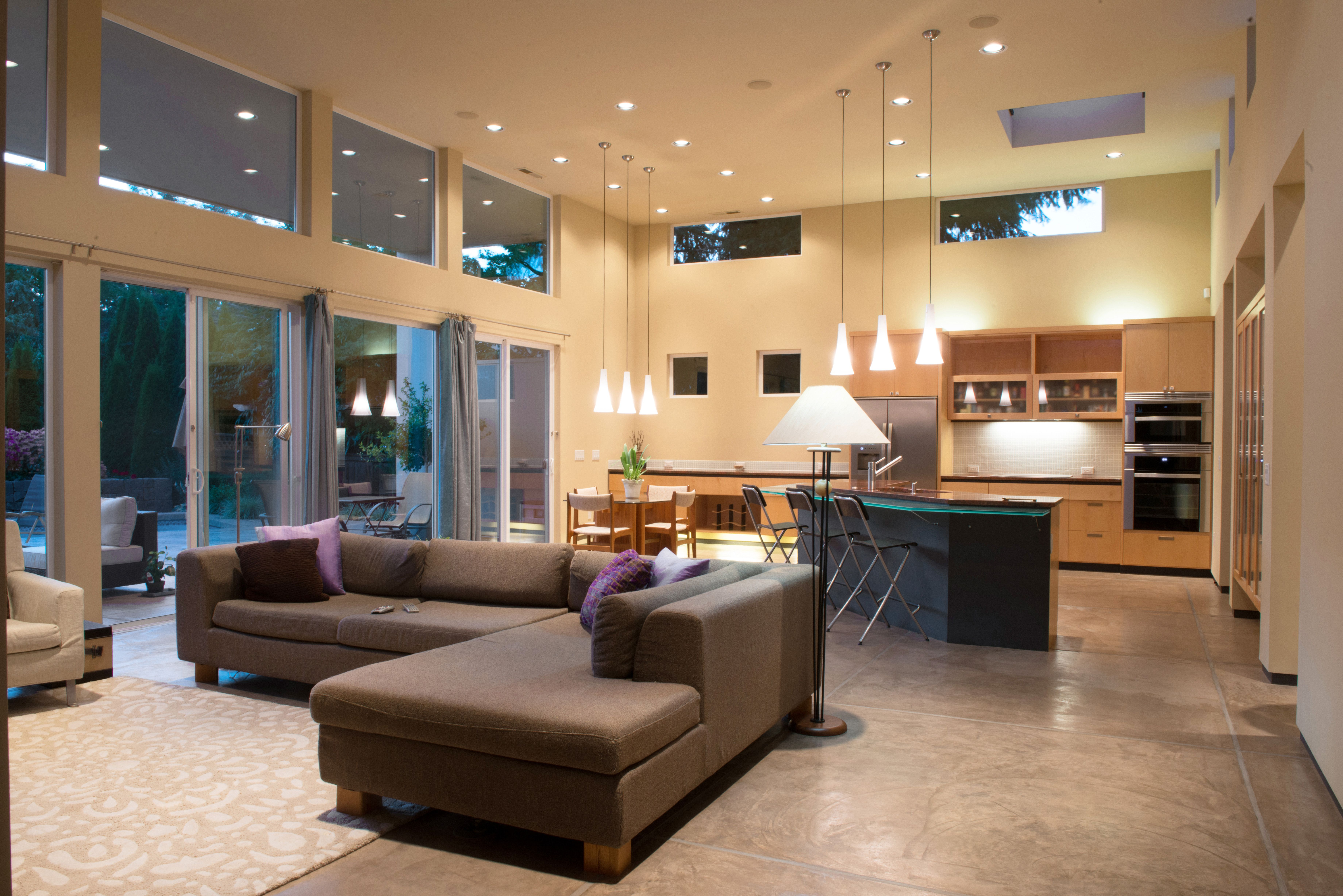Pin By John Webb Construction Desig On Modern Home With Pool Open Concept Kitchen Living Room Modern Kitchen Open Open Living Room Design