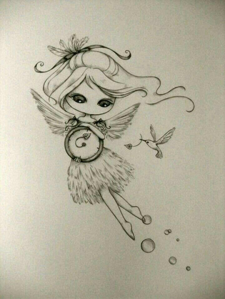Imagen Lapidibujos Fairy Drawings Draw Y Art