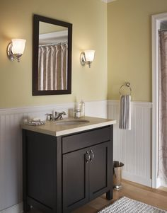 Vanity lights on the side | Guest bathroom | Pinterest | Vanities ...