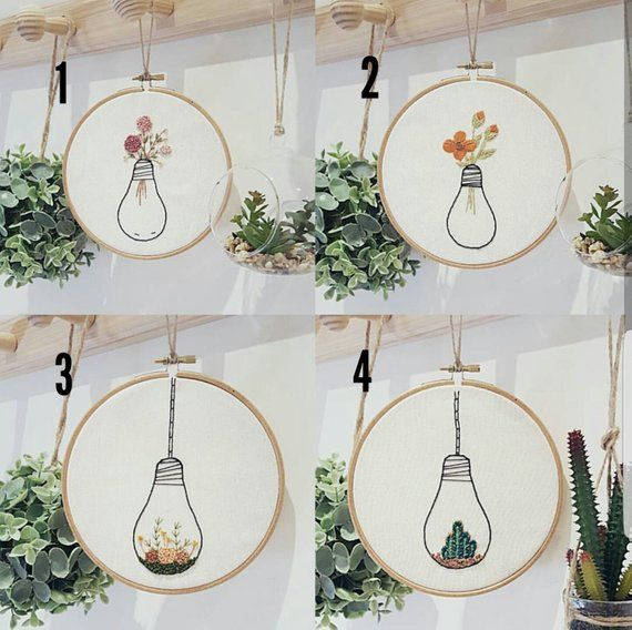 Photo of Embroidery decor flower embroidery decor modern embroidery | Etsy