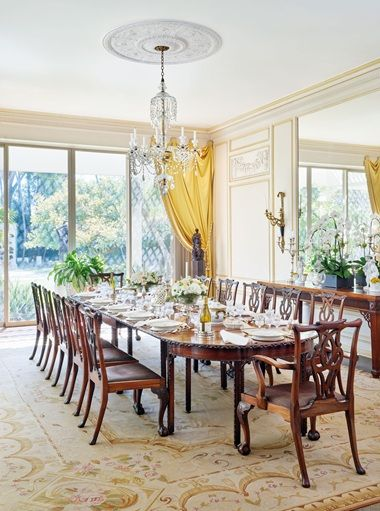 The William Haines Designed Dining Room In Betsy Bloomingdales Home Holmby Hills California