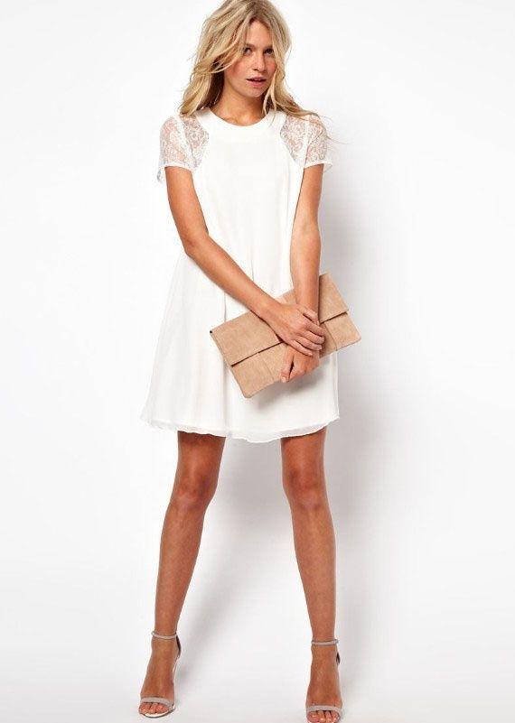 GroopDealz | Lace Sleeve Chiffon Dress - 4 Colors! #groopdealz