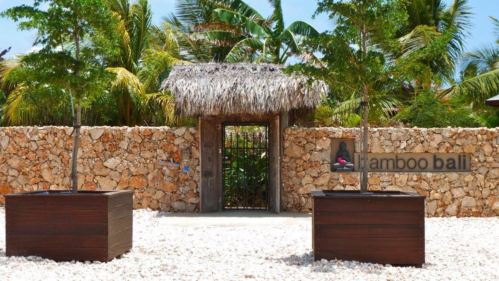 Front Gate at Bamboo Bali Bonaire