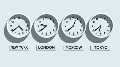 Wall Clocks Showing Different Time Stock Footage Video 100