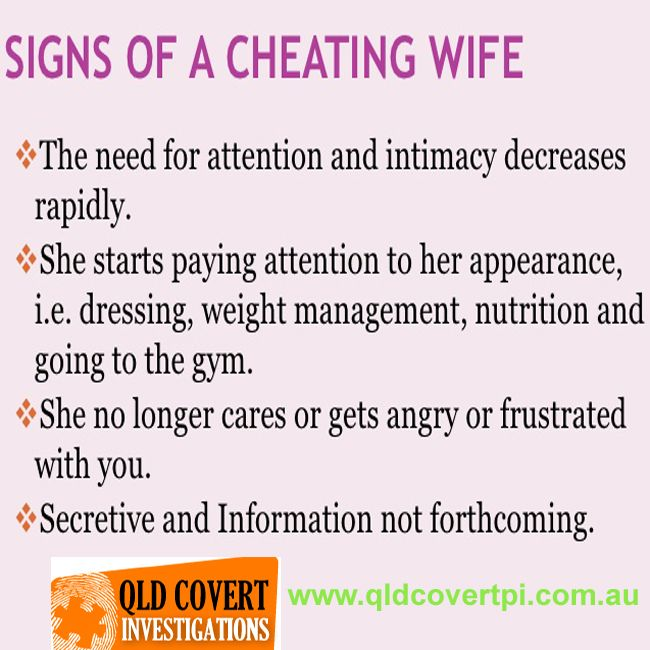 How Tell If Wife Is Cheating