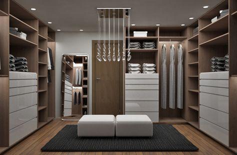 Ideas imgenes y decoracin de hogares Vestidores modernos