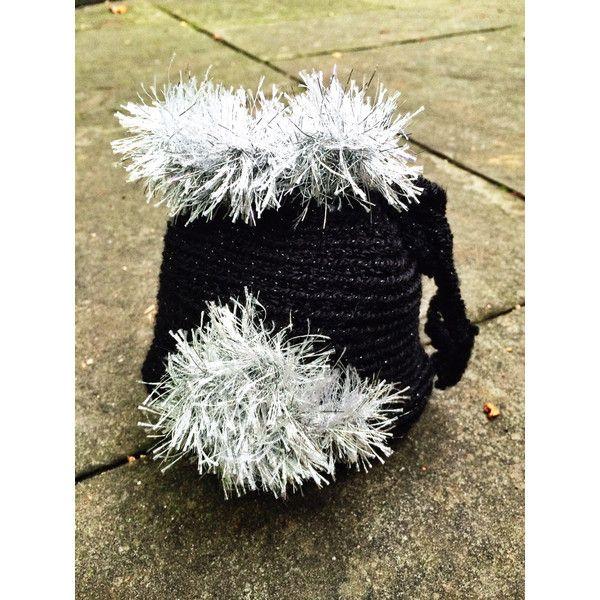 St Patrick Crochet Shamrock Purse Unique Handmade Black drawstring... ($25) via Polyvore featuring bags, handbags, cell phone pouch purse, purse pouch, drawstring pouch, crochet hand bag and cell phone pouch