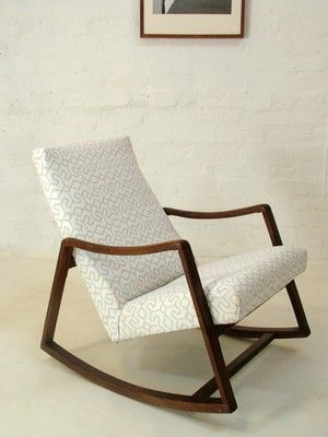 50s 60s Danish Rosewood Mid Century Rocking Chair Retro