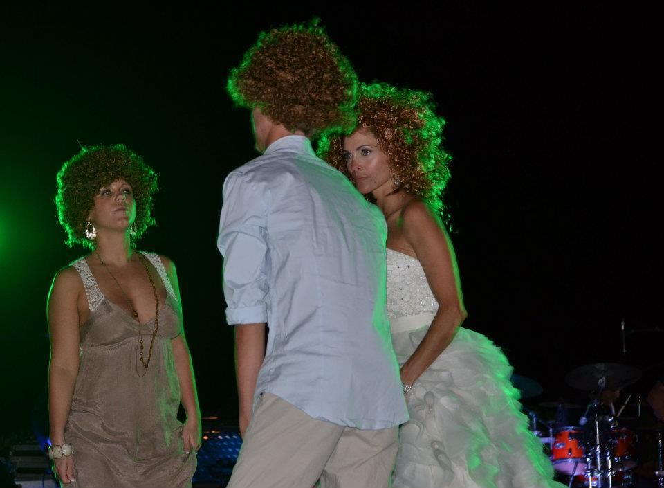 We had a 70's disco band....so we purchased Afros for everyone!