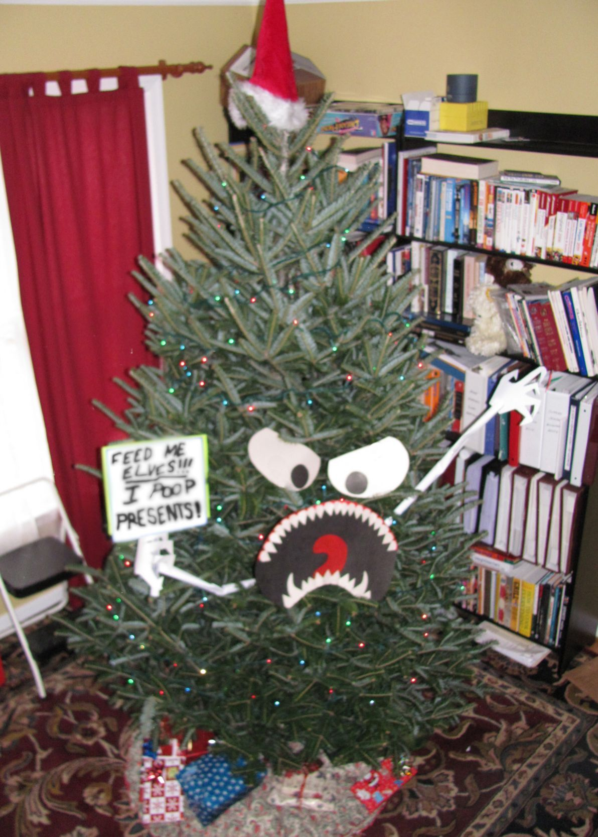 This Is What Happens When A Man Decorates The Tree Funny Christmas Tree Christmas Humor Cool Christmas Trees