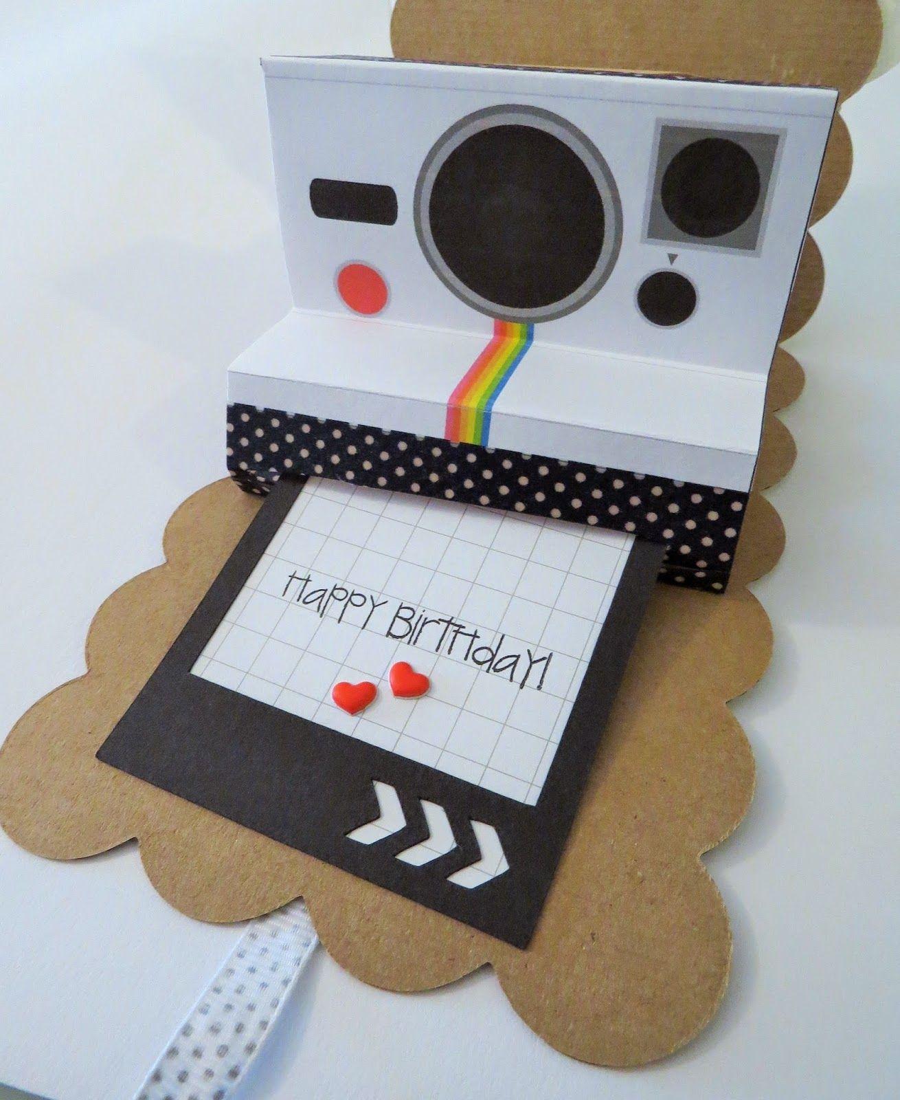 Scrapbook camera card
