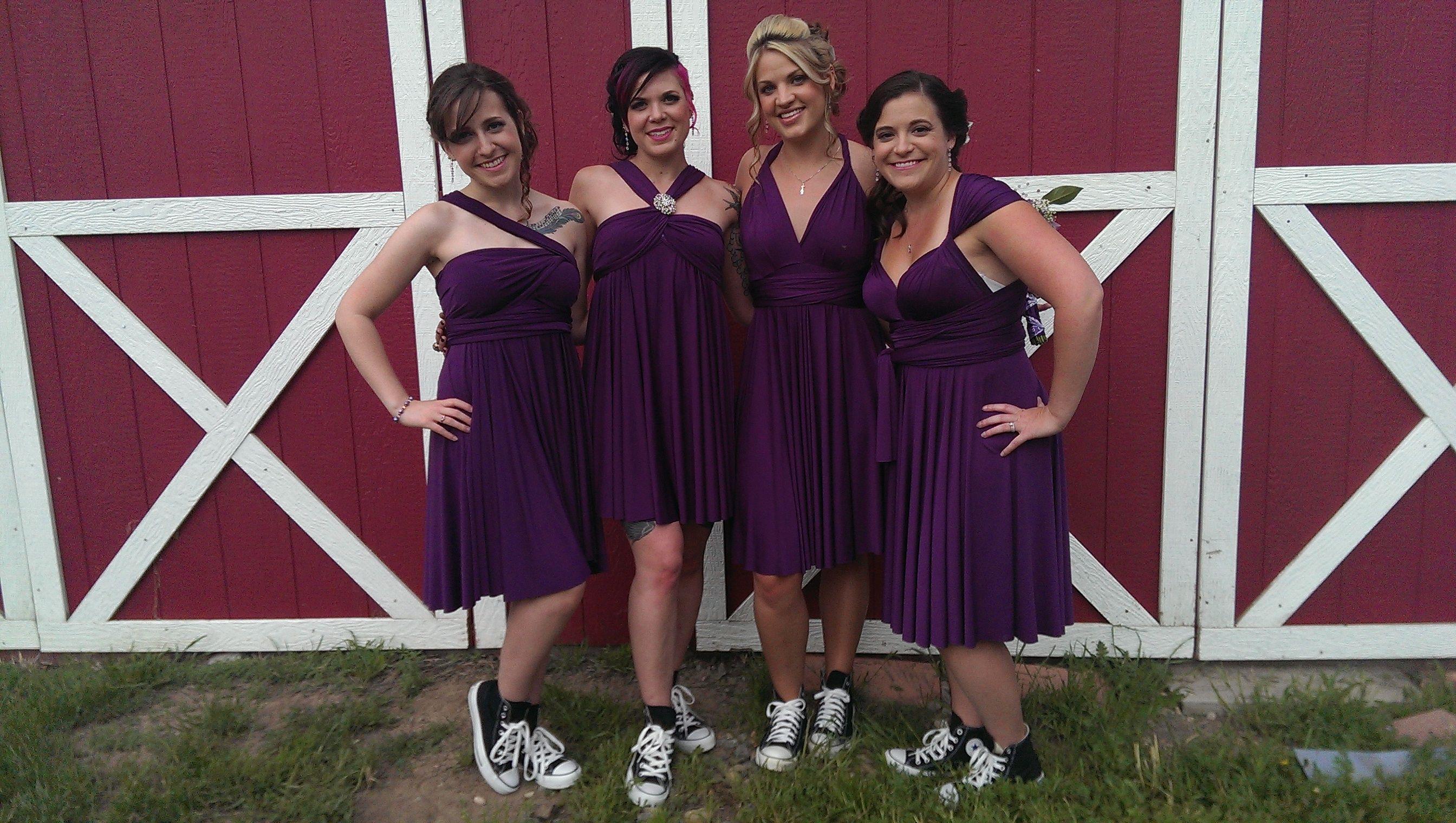 wedding wednesday plum purple