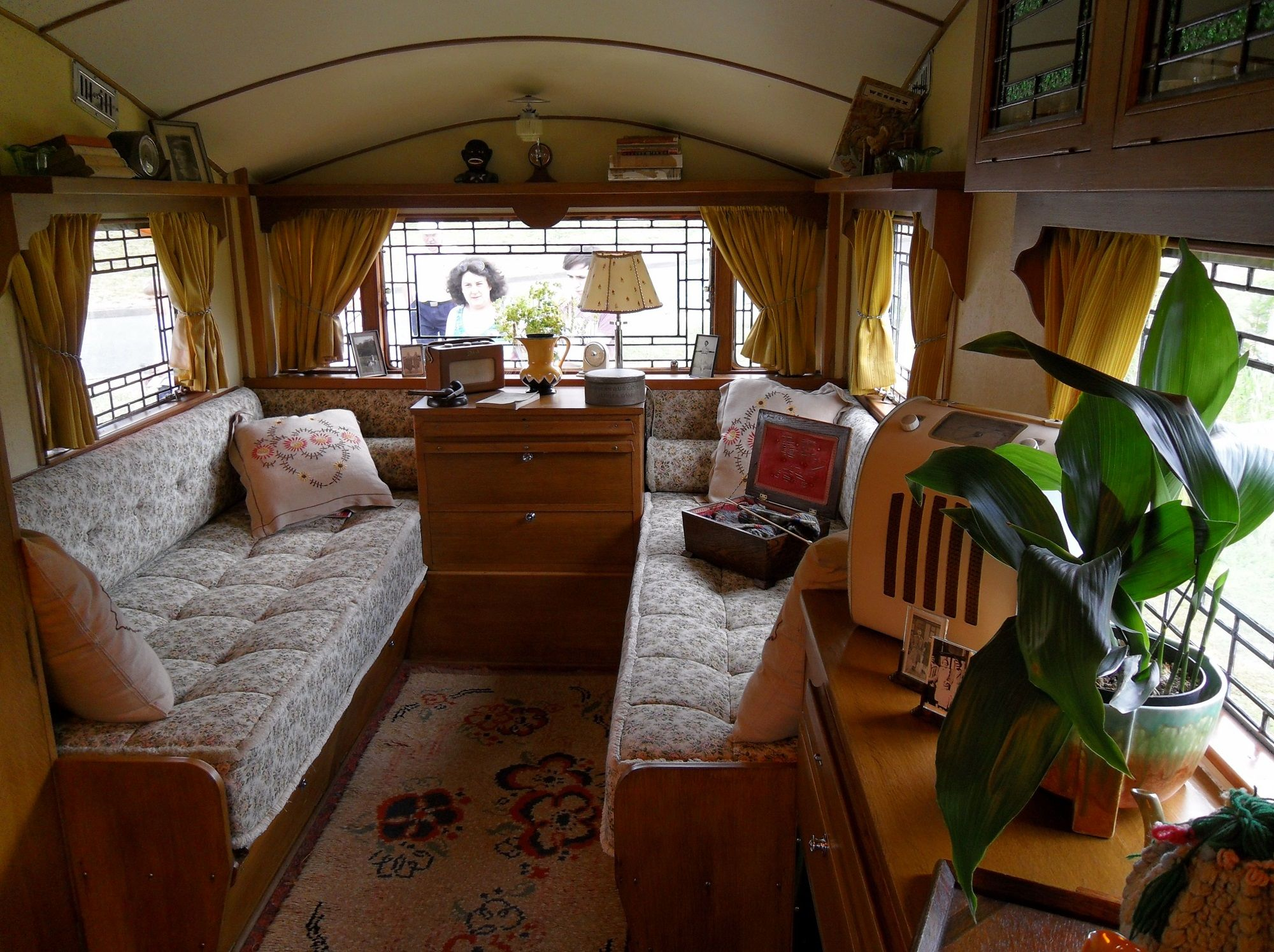 The Interior Of Our 1949 Burlingham Caravan My Vintage