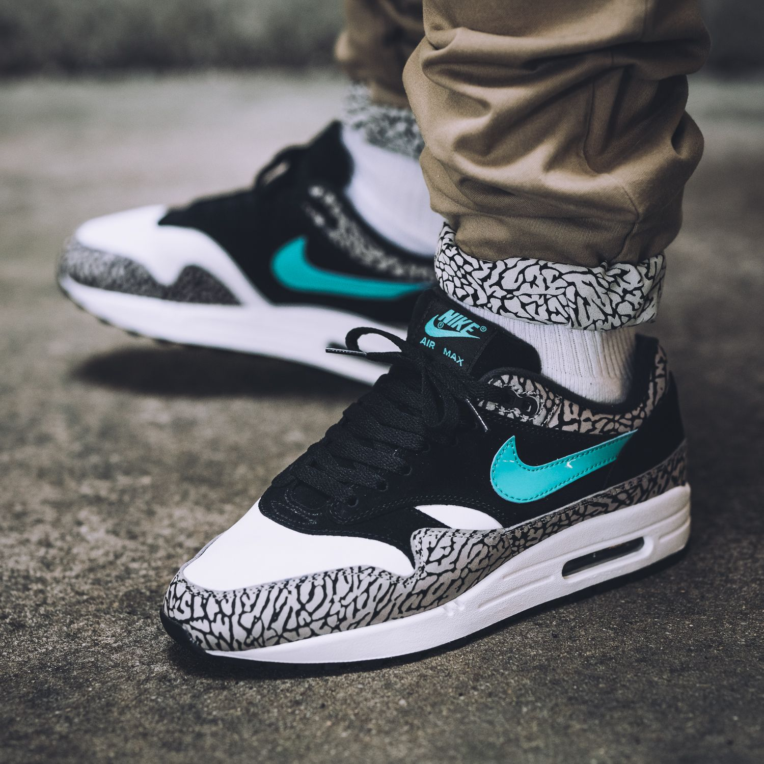 2fc0aa2e22fe88 A Detailed Look at the atmos x Nike Air Max 1  Elephant Print  with Video -  EU Kicks  Sneaker Magazine