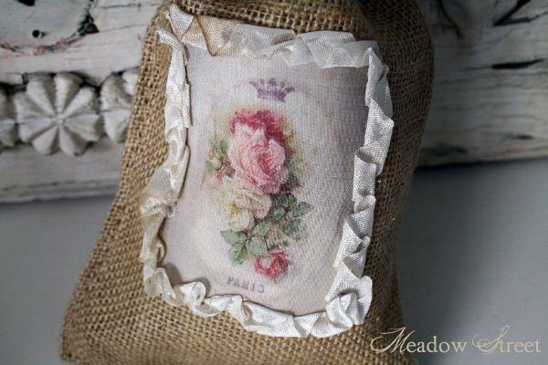 Small Burlap Bag-Paris