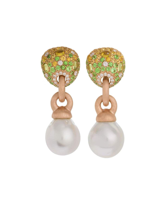 d00527535 Margot Mckinney Jewelry 18k Green Stone & Baroque Pearl Drop Earrings