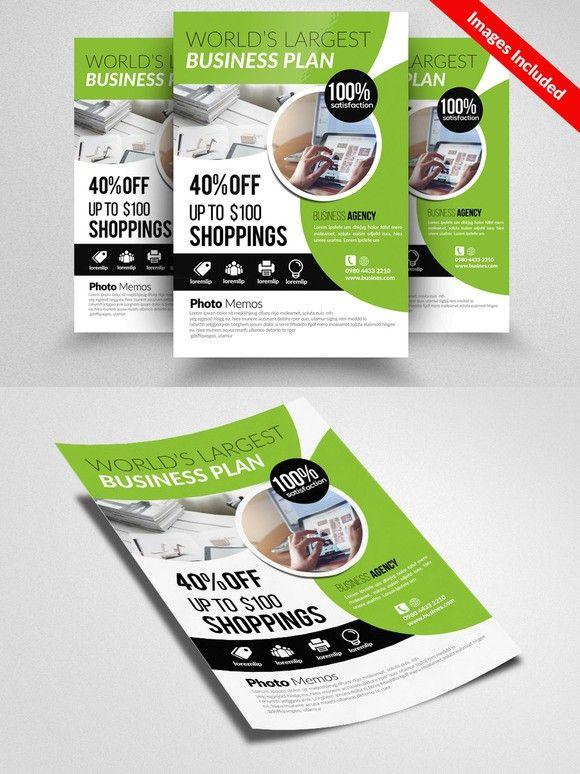 Creative Business Flyer Template Flyer Templates Pinterest - agent contract template