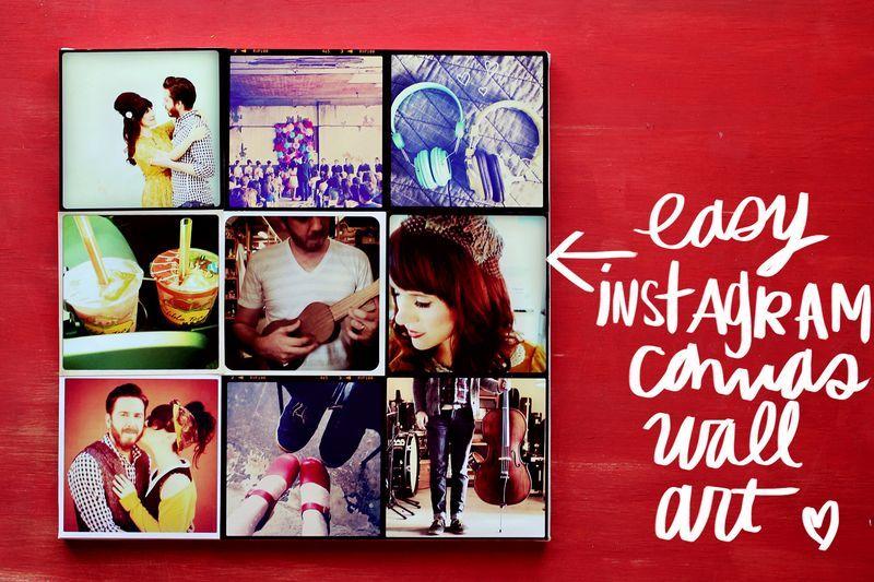 Instagram Canvas Wall Art Diy Canvas Photo Diy Instagram Wall Diy Wall Art
