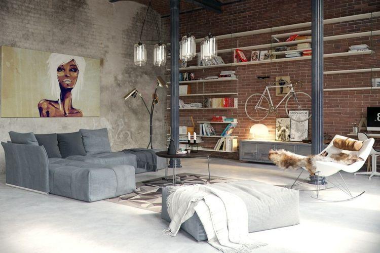 Betonboden Wohnbereich backstein betonboden wohnbereich sichtbeton | my house ideas