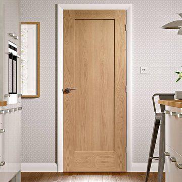 pattern 10 shaker oak door - obscure glass | rumah, pintu