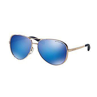 Michael Kors Women's Chelsea Polarized Sunglasses, Rose Gold/Blue, One Size