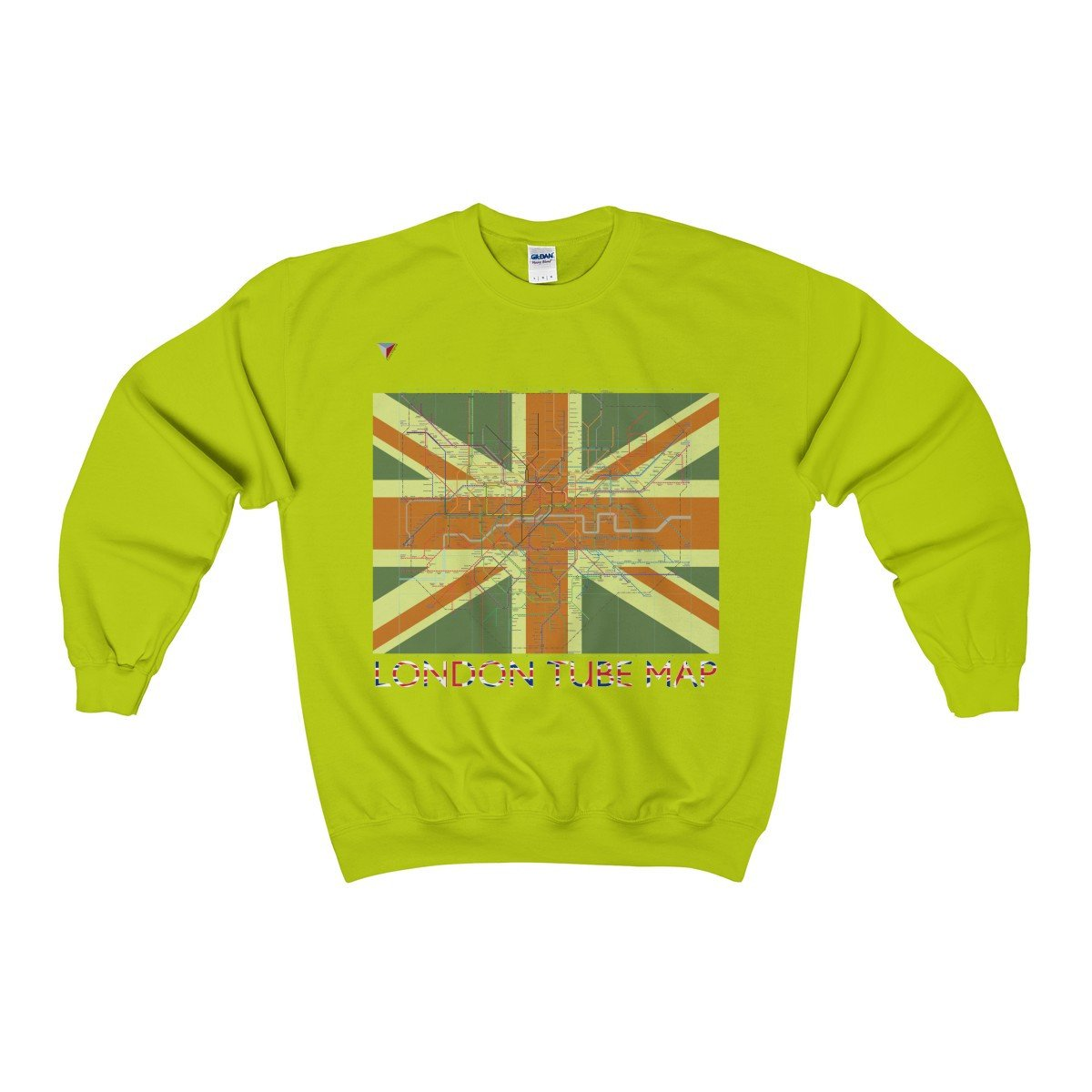 London Tube Map Heavy Blend™ Adult Crewneck Sweatshirt