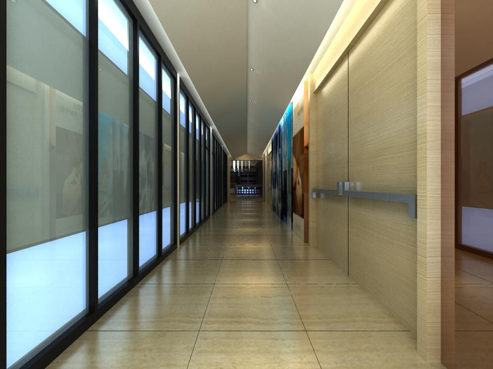 Corridor 032 3D Model Created With VRay And Need This Renderer To Work Correctly Materials Used Textures Light Setup