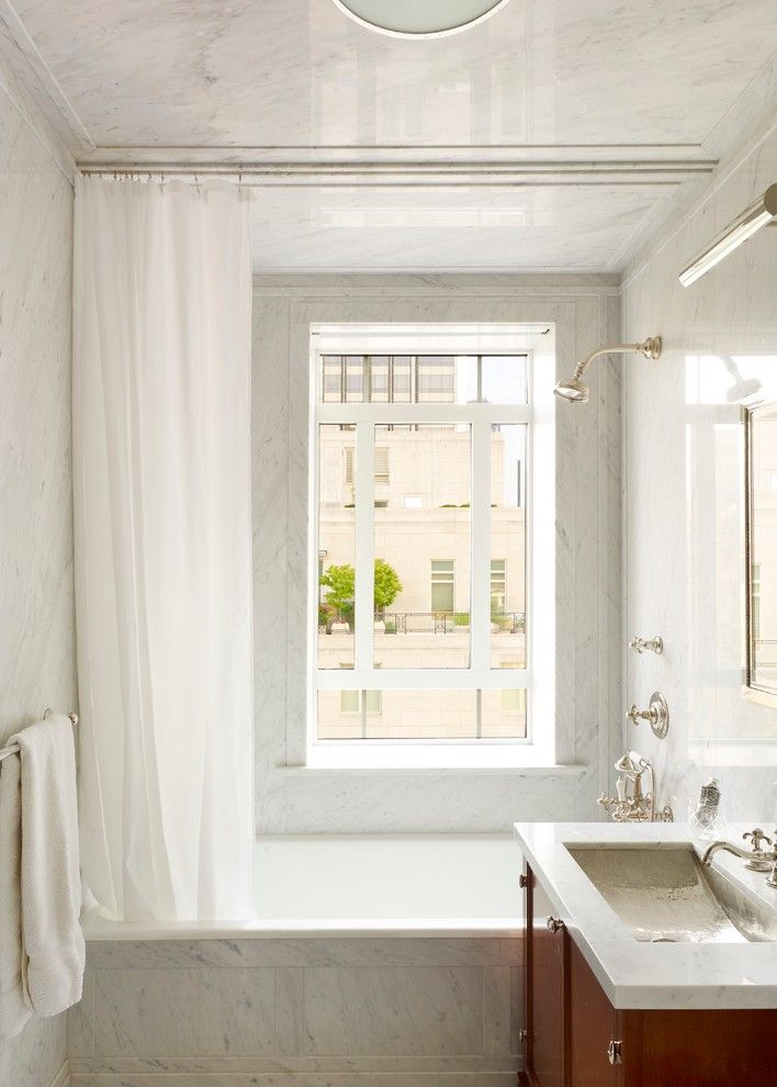 Ceiling Hung Shower Curtain Window Bathtub Storage Item Towel Rack Traditional Bathroom Faucet Of Cute