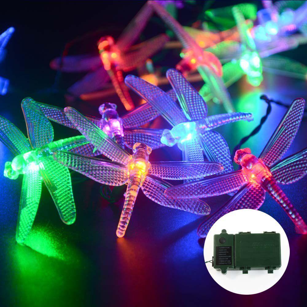 amazon com ledertek 20 led 7 2ft super bright battery operated 3 x