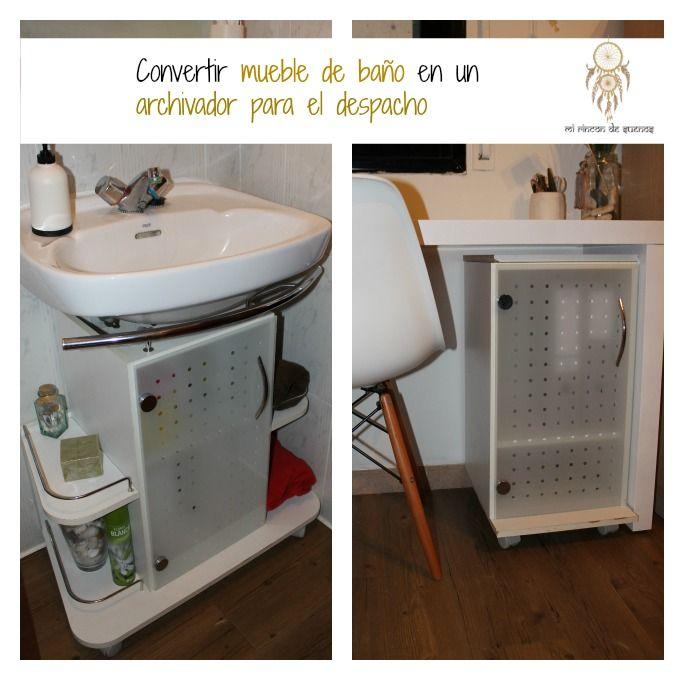 Mi rinc n de sue os un mueble de ba o convertido en mueble auxilar dys mi casa pinterest - Como hacer mueble para bano ...