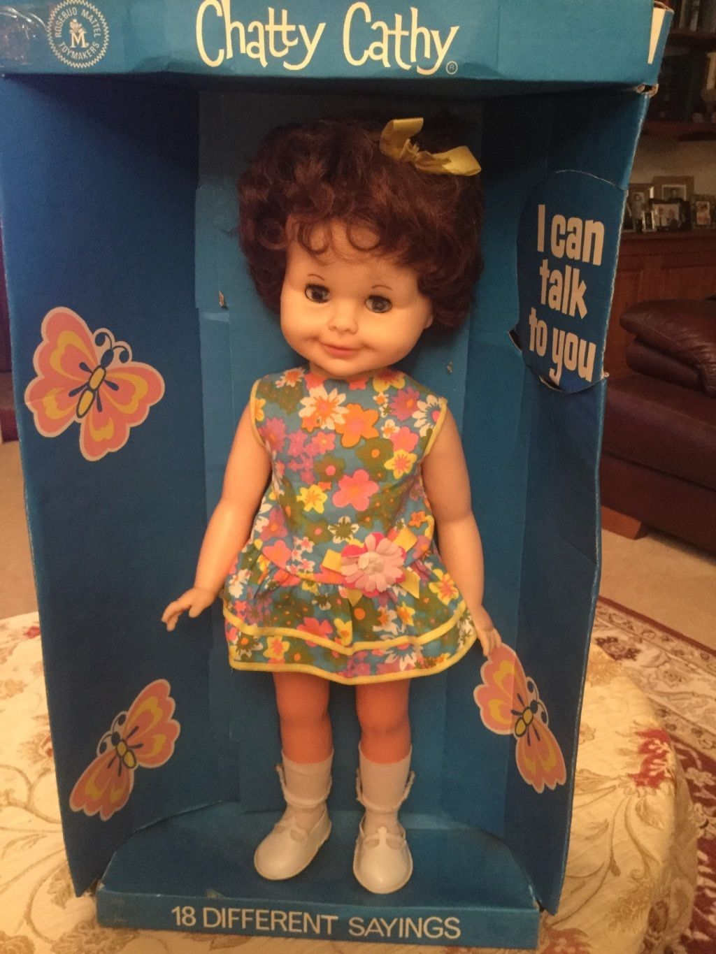 Chatty Cathy, Brunette 1960s collectors doll | 141+5.5