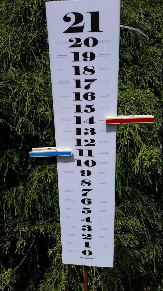 Scoreboard Score Keeper Black White Classic Uv Waterproof Cornhole Sporting Goods Outdoor Sports Backyard Ga Cornhole Backyard Games Corn Hole Diy