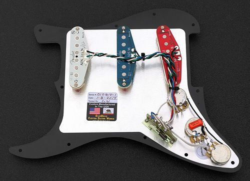 Custom Built Complete Strat Pickguard Assembly Built With Fender N3 Noiseless Pcikup Set Pickguard Fender Pickups Fender