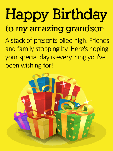 To My Amazing Grandson Happy Birthday Wishes Card Birthday Greeting Cards By Davia Happy Birthday Wishes Cards Happy Birthday Grandson Birthday Wishes For Kids