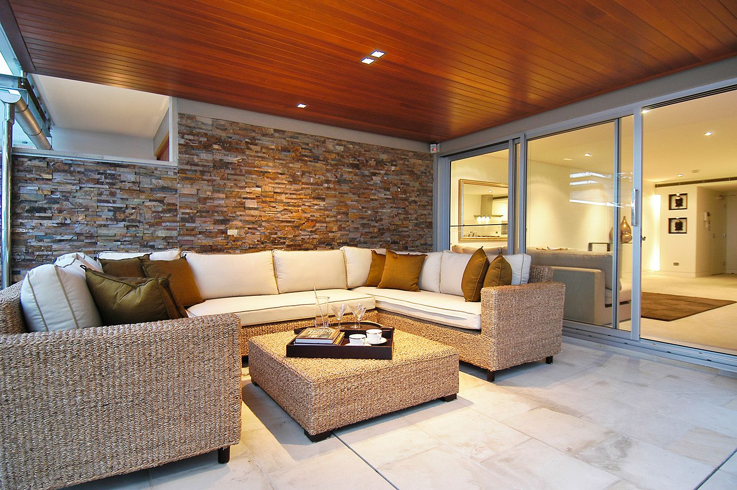 AMBER outdoor CLADDING | Modern rustic living room ... on Amber Outdoor Living id=55726