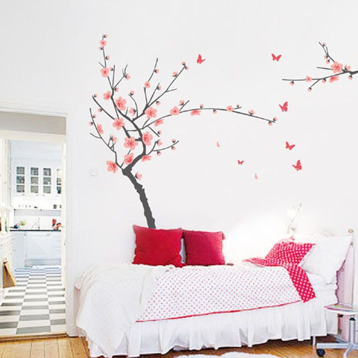 cherry blossom japanese flower removable wall sticker for kids