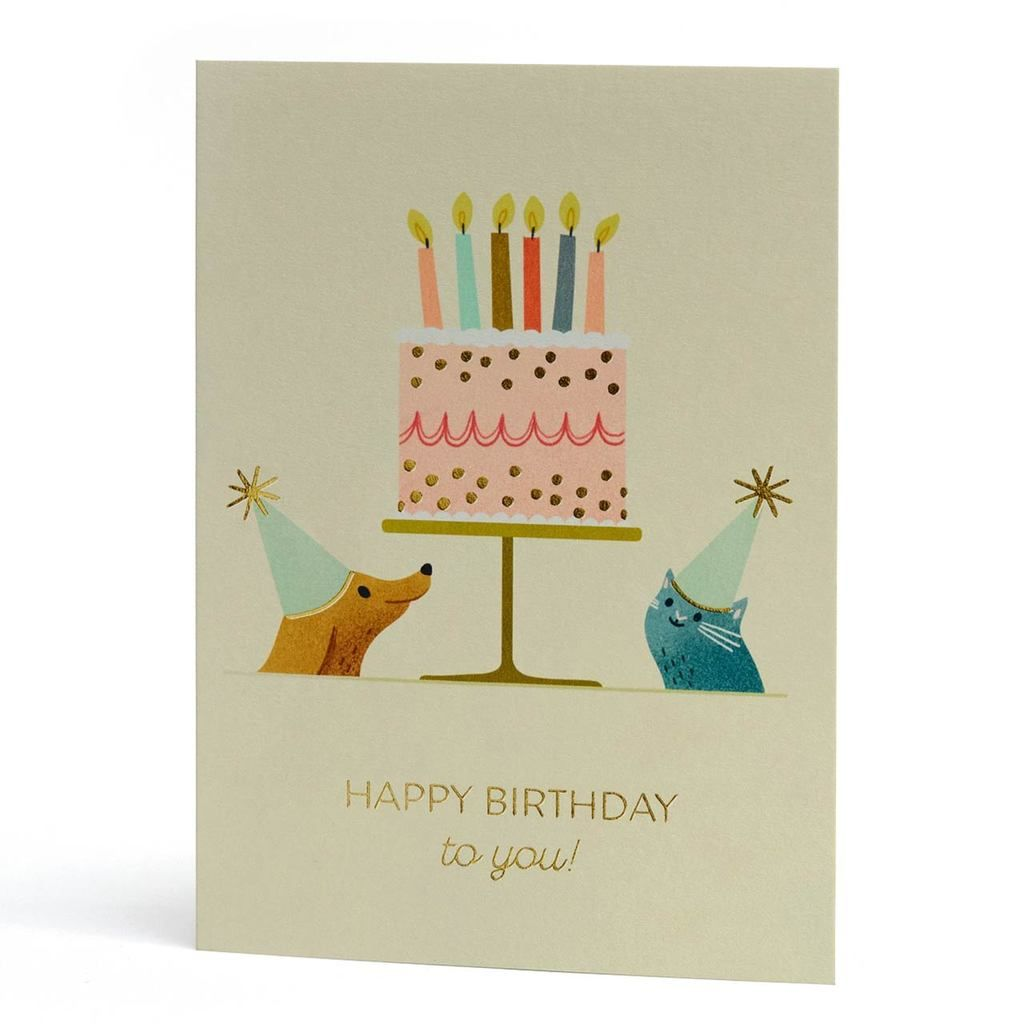 Party Pets Gold Foil Birthday Greeting Card In 2020