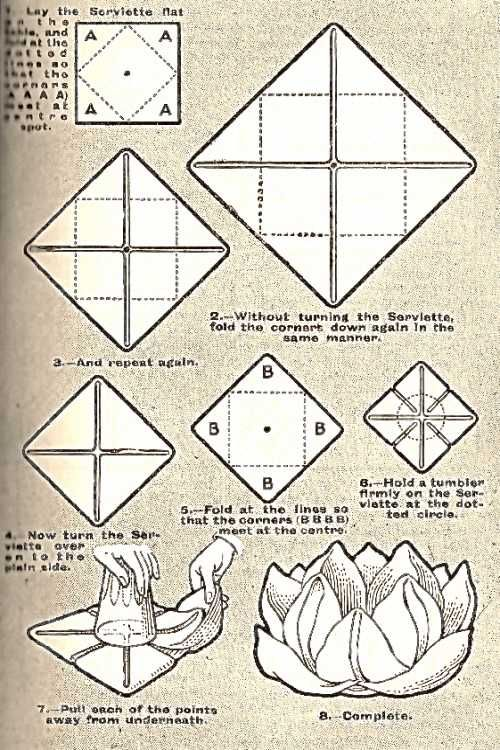 napkin folding styles instructions
