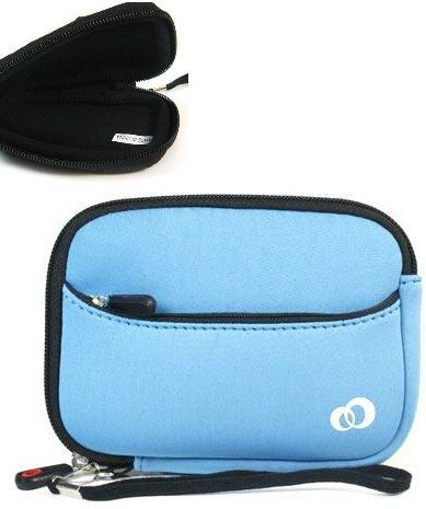 - Kroo Blue Mini-Suit Camera Sleeve for Nikon Coolpix P300 (+ 1pc Lost-n-Found ID Tag) ..... Best Selling Case on Amazon! $11.99