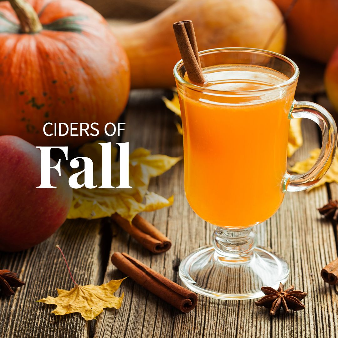 What says fall better than a seasonal cider? Try our fall