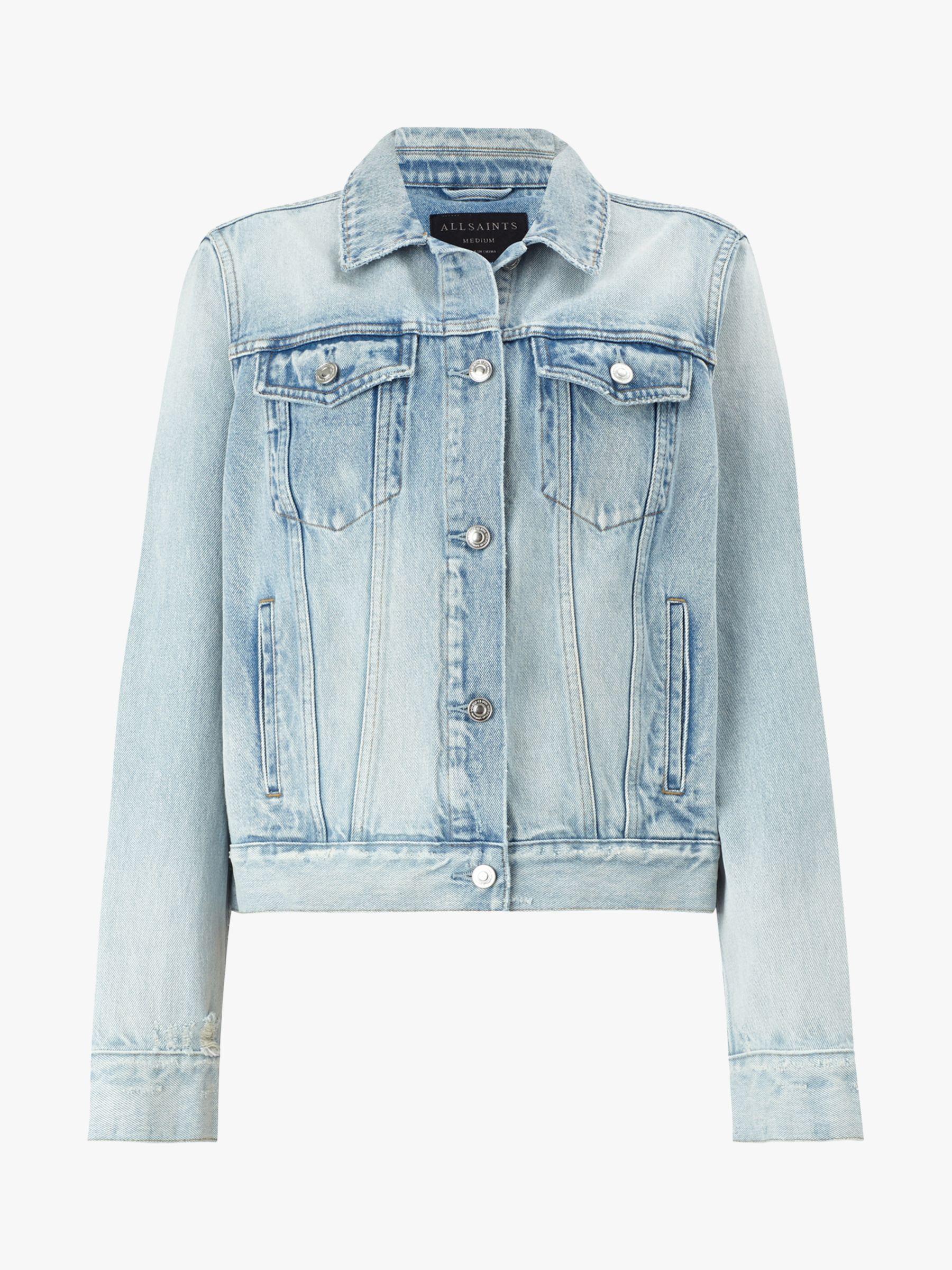 AllSaints Sheyla Denim Jacket, Indigo Blue | Denim, Jackets