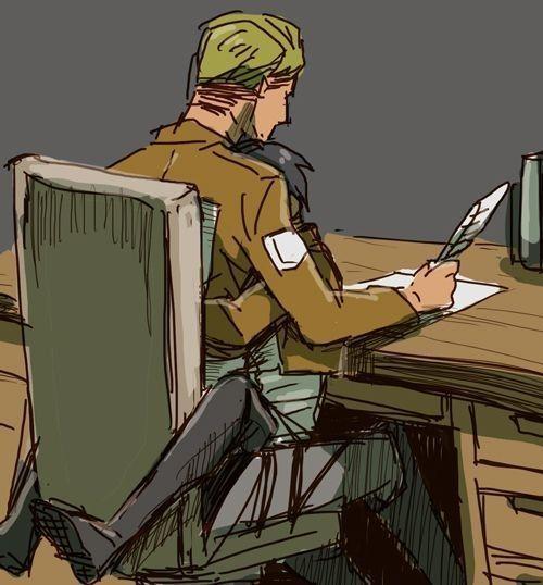 Armin réagit aux Ships  - Eruri {Erwin x Levi}