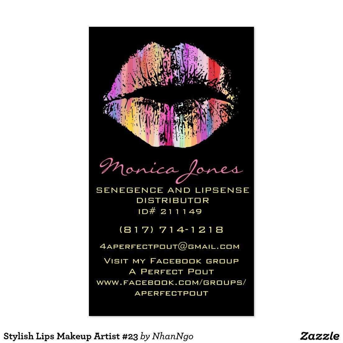 Loving my new LipSense business card I customized! Can\'t wait to get ...