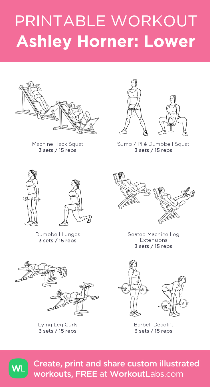 ashley horner lower my visual workout created at workoutlabs com