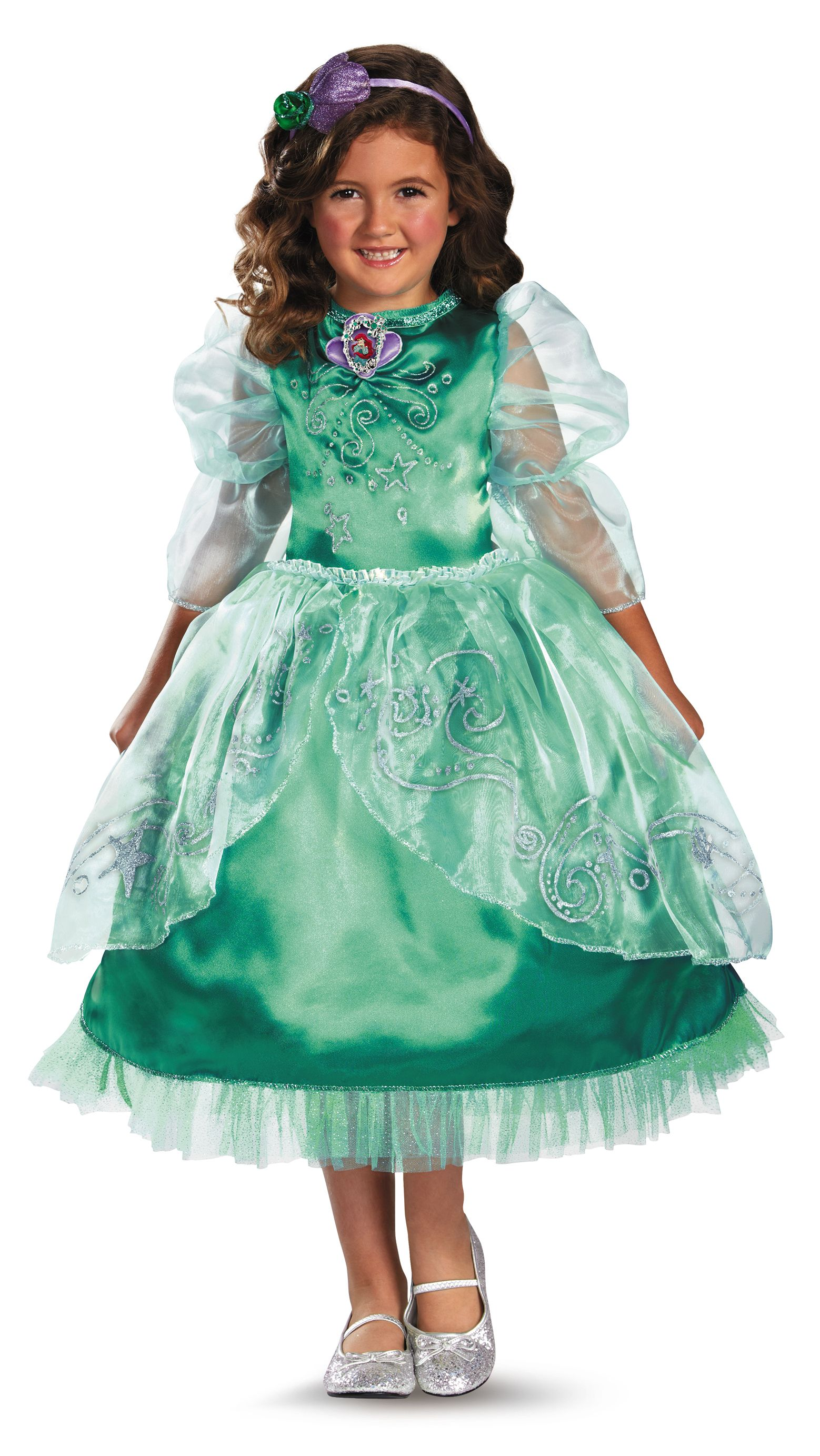 Disguise Disney's The Little Mermaid Ariel Sparkle Deluxe Girls Costume