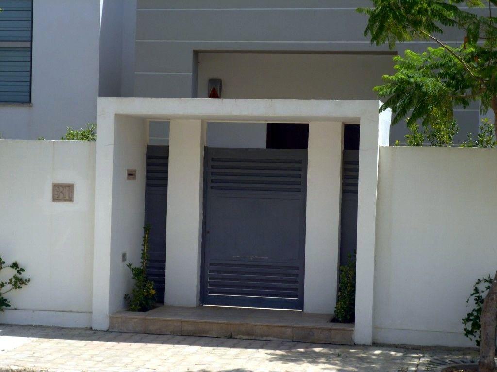 Fabrication sur mesure pour portes d entr e de villa portail fen tres balcons et de cl ture - Portail maison moderne ...